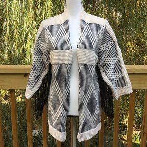 NWT H&M Fringe Sleeve Cardigan Sweater oversized